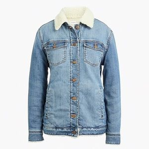Oversized Sherpa Lined Denim Jacket